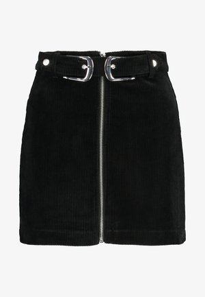 NEW BUCKLE SKIRT - Minirok - black