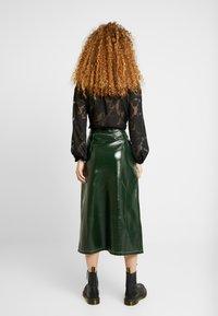 Topshop - A LINE - A-line skirt - dark green - 2