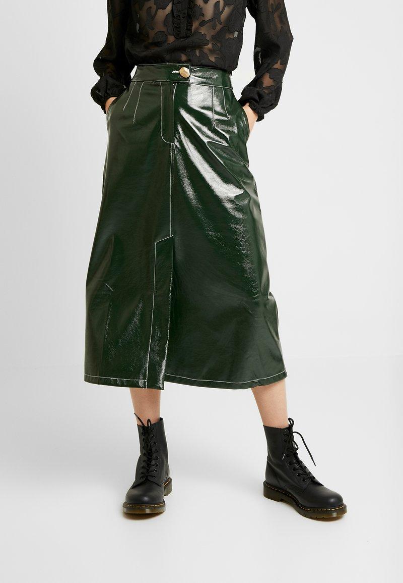 Topshop - A LINE - A-line skirt - dark green