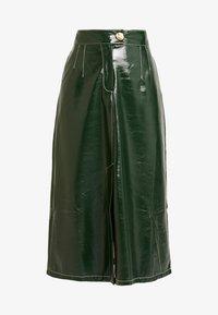 Topshop - A LINE - A-line skirt - dark green - 3