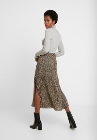 Topshop - LEOPARD CRYSTAL PLEAT - A-line skirt - brown - 2