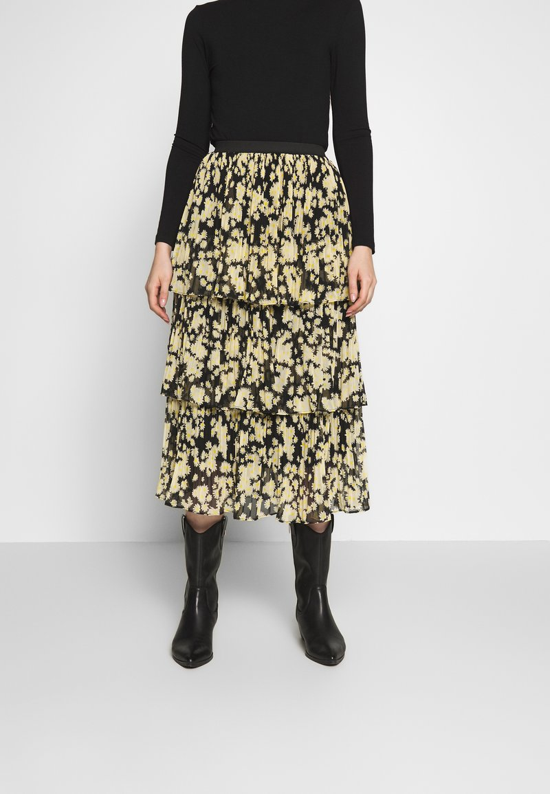 Topshop - DAISY TIERED PLEAT - A-line skirt - multi-coloured