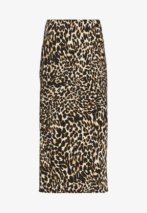 LEOPARD BIAS - Falda de tubo - brown