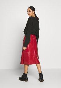 Topshop - SEAMED MIDI - A-line skirt - cherry - 2