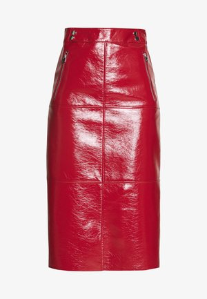 SEAMED MIDI - A-line skirt - cherry