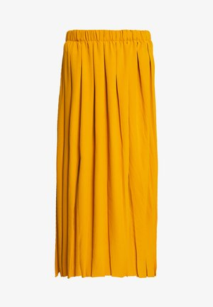 PULL ON PLEAT - Falda acampanada - mustard