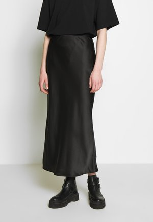 BIAS - Maxi sukně - black
