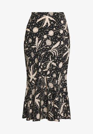 DANDELION FLOUNCE - Áčková sukně - black
