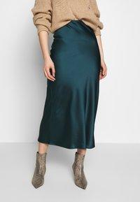 Topshop - BIAS - Áčková sukně - teal - 0