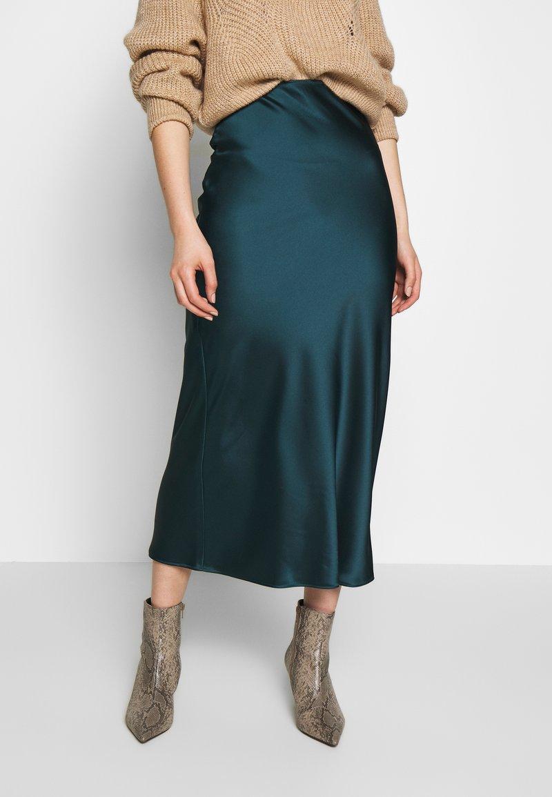 Topshop - BIAS - Áčková sukně - teal