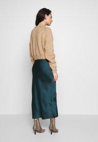 Topshop - BIAS - Áčková sukně - teal - 2