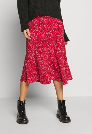 SKETCH FLOUNCE - Áčková sukně - red