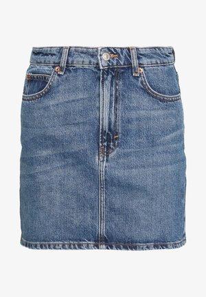 Denimová sukně - blue denim