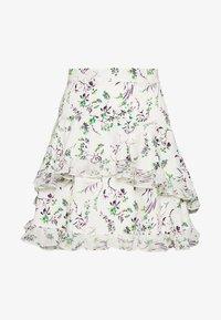 Topshop - DESIREE LAYERED MINI SKIRT - Mini skirts  - cream - 0