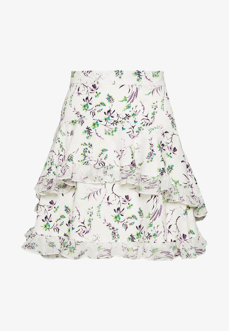 Topshop - DESIREE LAYERED MINI SKIRT - Mini skirts  - cream