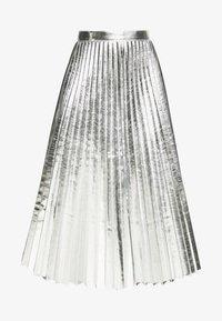 Topshop - METALLIC  MIDI - A-lijn rok - silver - 5