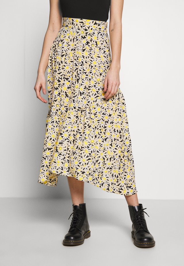 DAISY TIERED - A-lijn rok - yellow