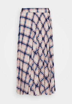 CHECK PLEAT MIDI - A-line skirt - multi