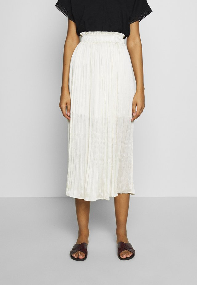 CURSHED PLEAT MIDI - A-linjekjol - cream