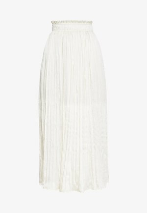 CURSHED PLEAT MIDI - A-line skirt - cream