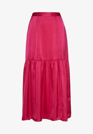 PLAIN TIERED - A-line skirt - hot pink