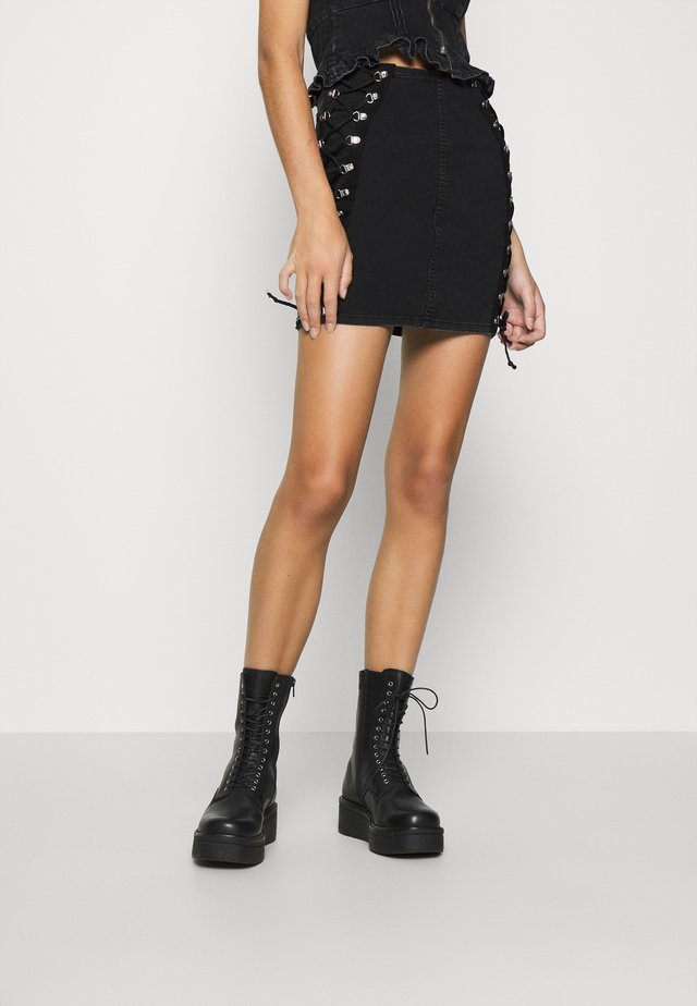 JONI SKIRT - Pencil skirt - washed black