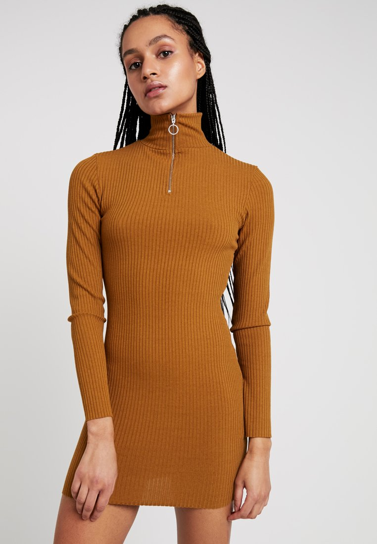 Topshop - ZIP - Etuikleid - brown