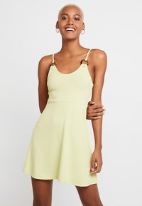 Topshop - RING FLIPPY - Žerzejové šaty - lime - 0