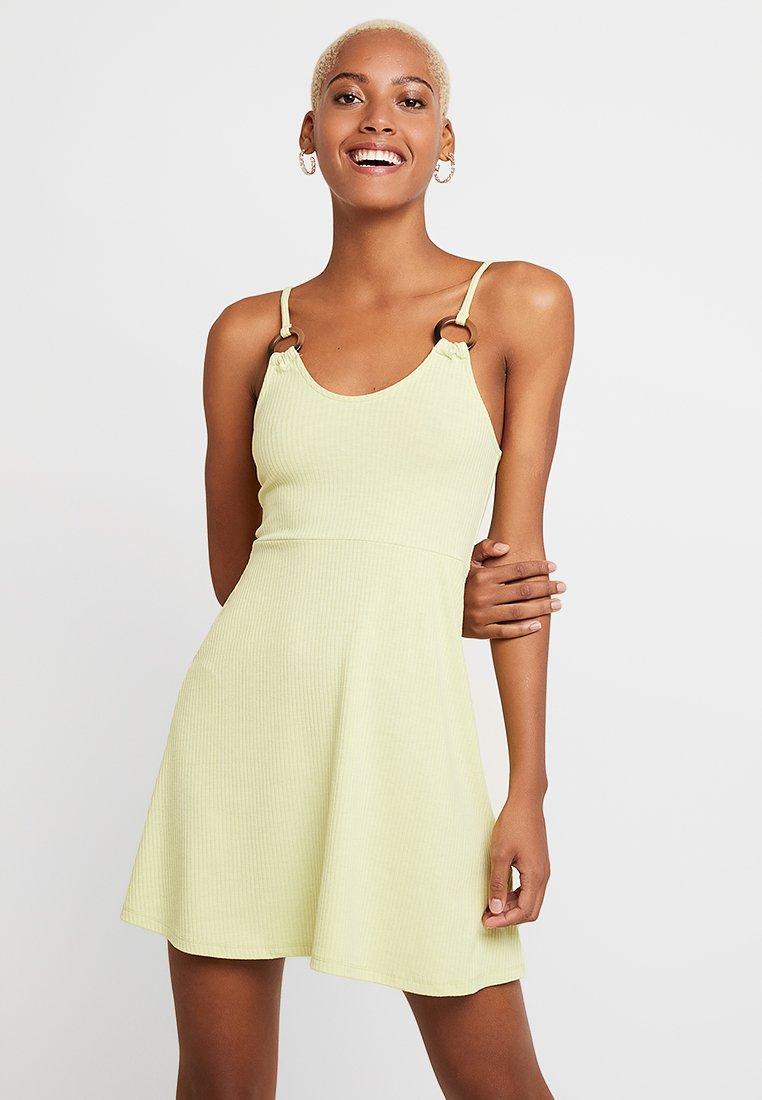 Topshop - RING FLIPPY - Žerzejové šaty - lime