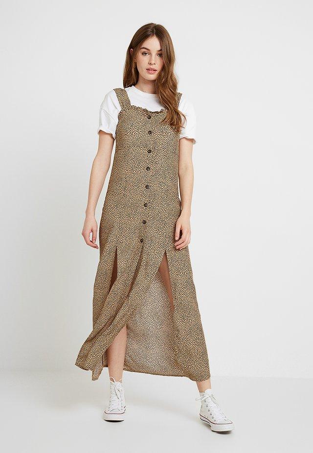 SPOT SPLIT FRONT DRESS - Vestido largo - tan