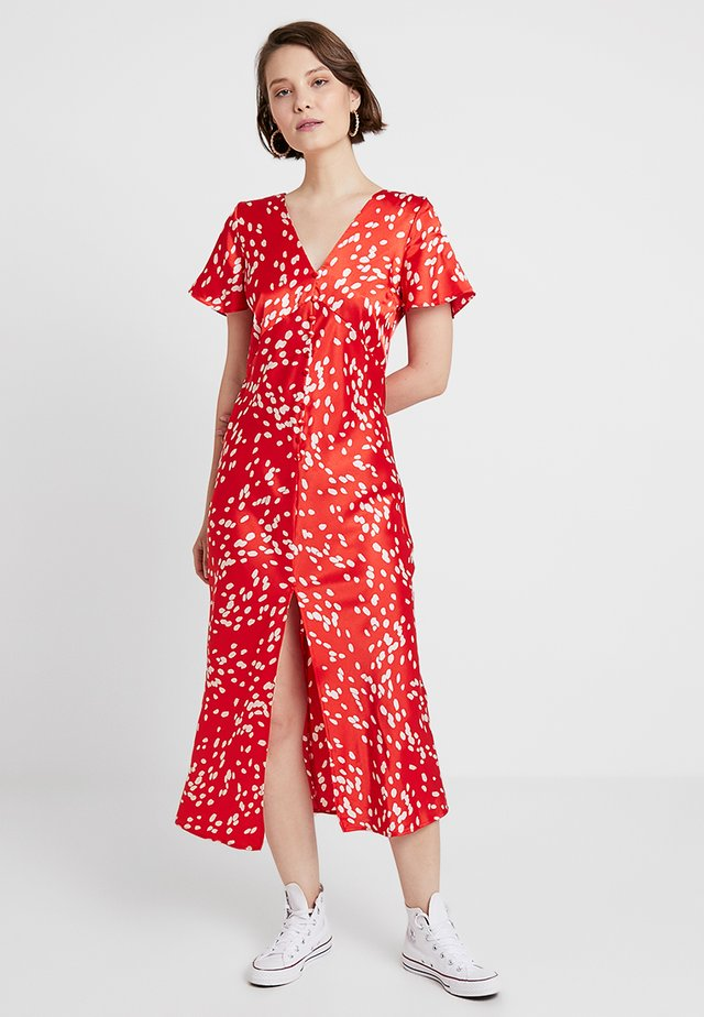 DALMATION SLEEVE - Maxi-jurk - red