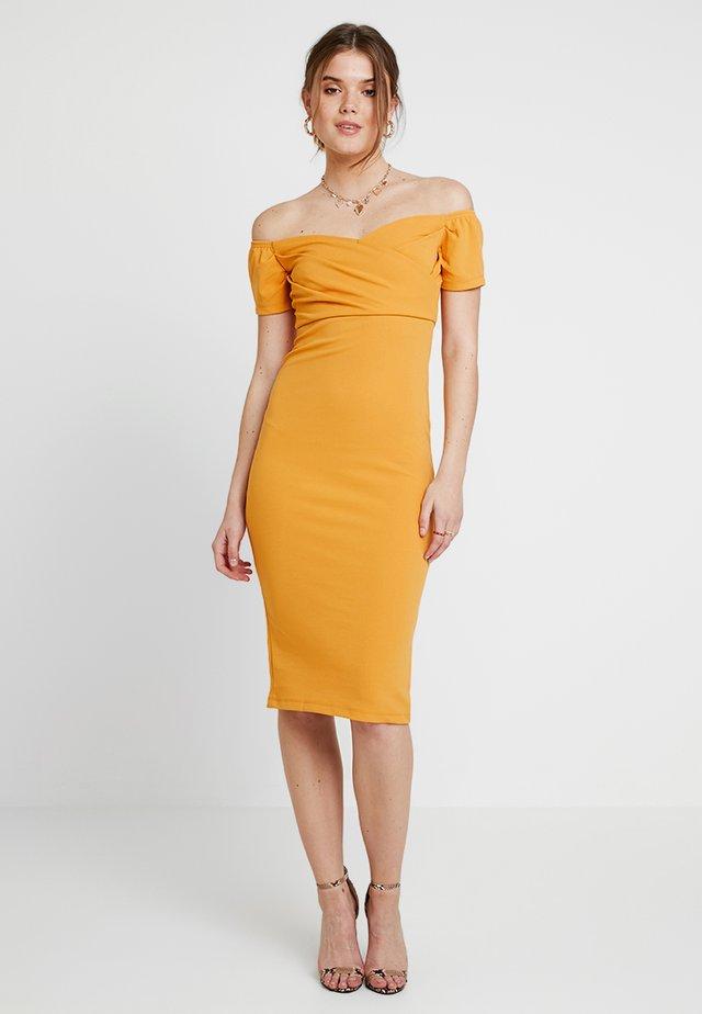 BARDOT WRAP DRESS - Vestito elegante - yellow