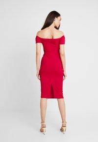 Topshop - BARDOT WRAP DRESS - Cocktail dress / Party dress - red - 3