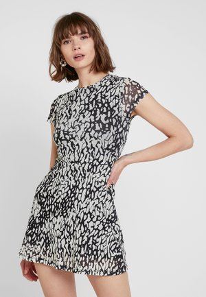 ANIMAL TEA DRESS - Day dress - black/white