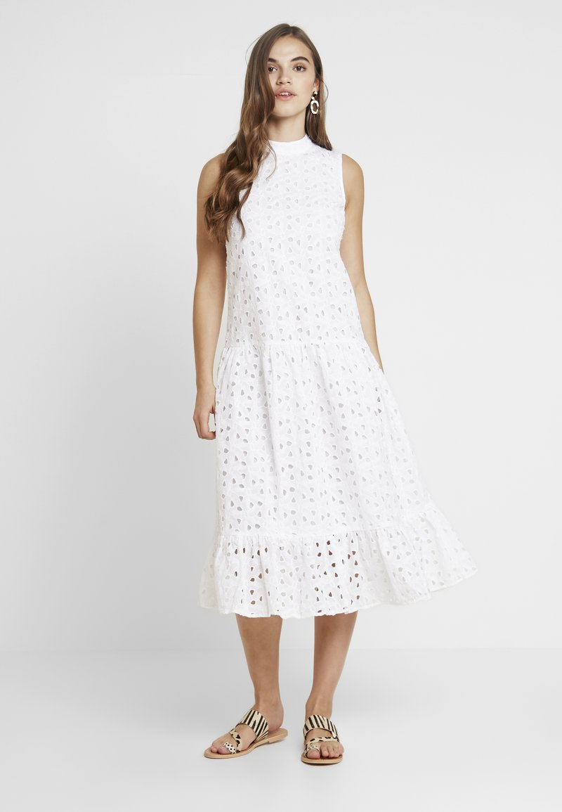 Topshop - SMOCK - Vestito estivo - white