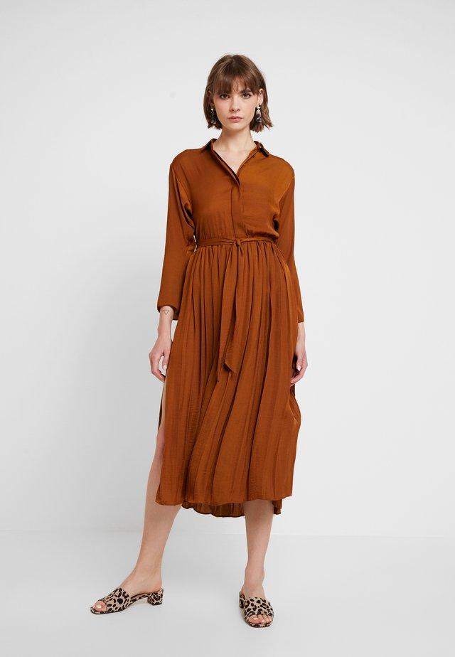 PLEATED - Shirt dress - tan