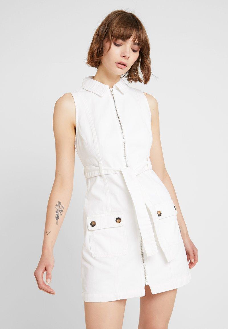 Topshop - Jeanskleid - white