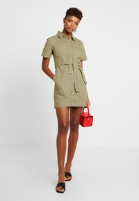 Topshop - UTILITY DRESS - Denim dress - khaki - 2