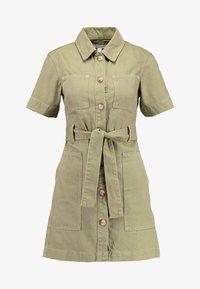 Topshop - UTILITY DRESS - Denim dress - khaki - 4