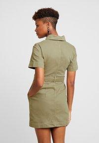 Topshop - UTILITY DRESS - Denim dress - khaki - 3
