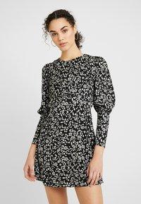 Topshop - MINI AUSTIN DRESS - Vestito estivo - black - 0
