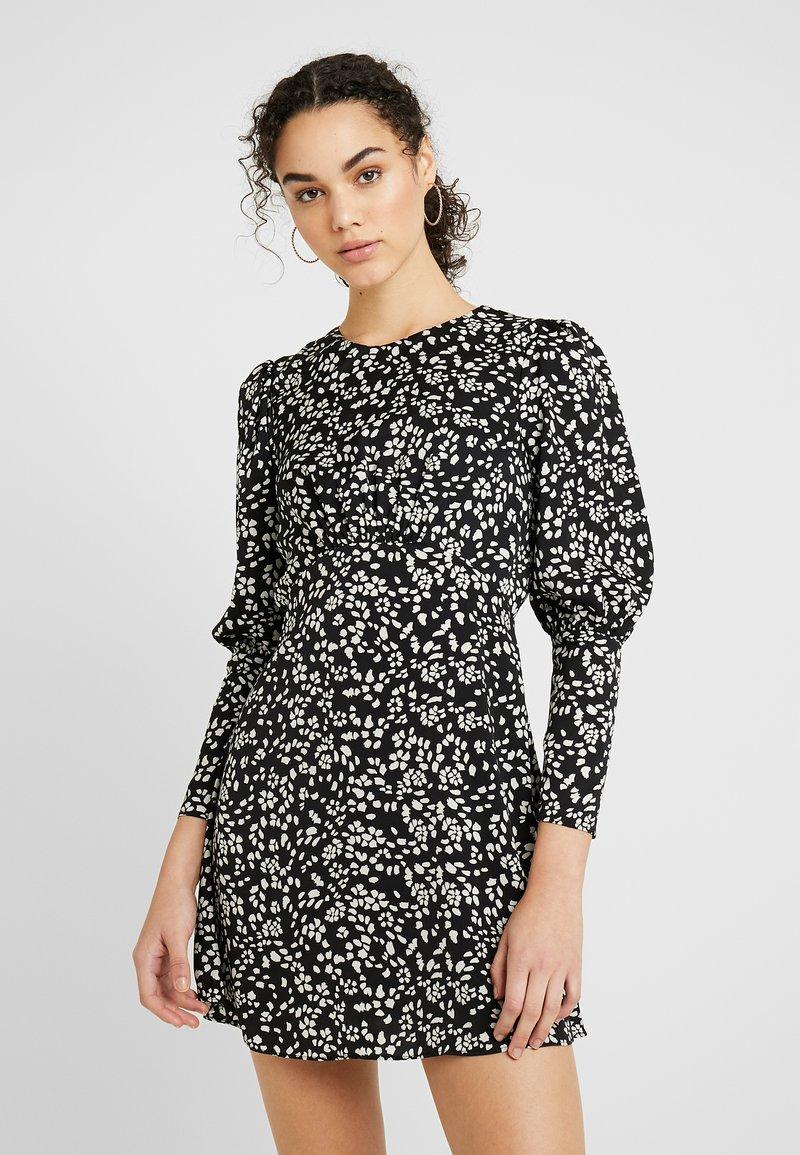 Topshop - MINI AUSTIN DRESS - Vestito estivo - black
