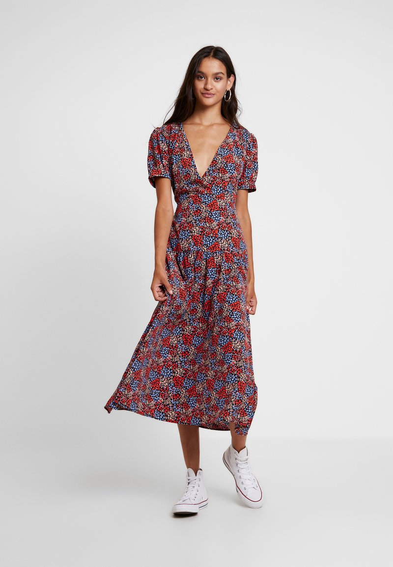 Topshop - FLORAL CLUSTER MIDI - Day dress - multi
