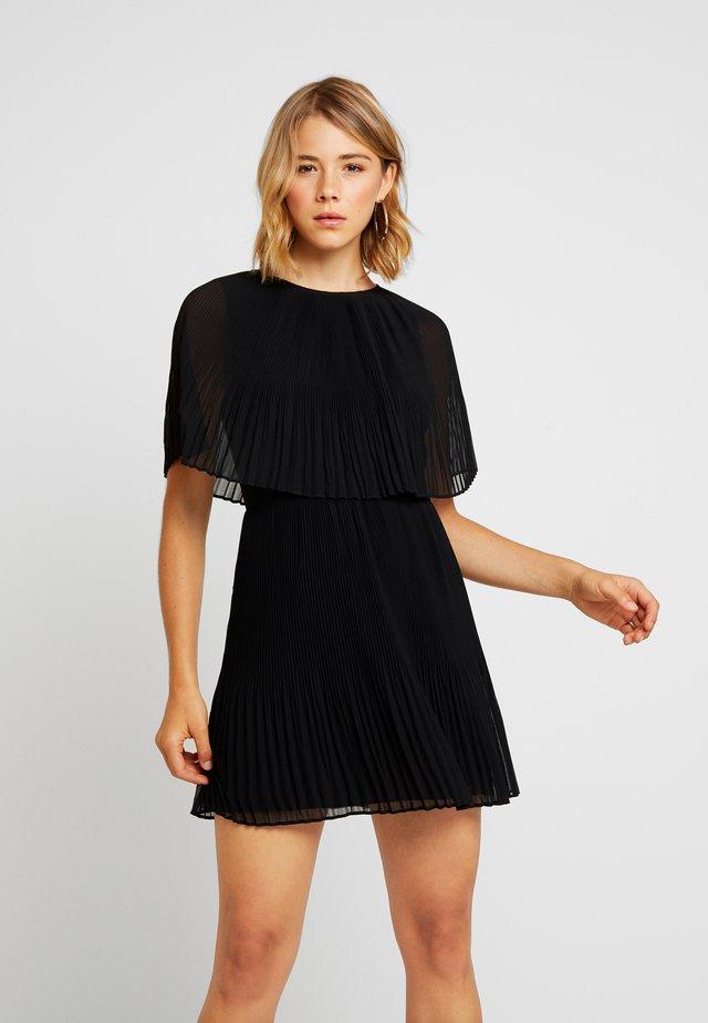 PLEATED CAPE DRESS - Vestido de cóctel - black