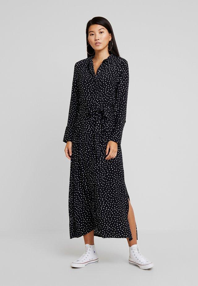 OPEN BACK DRESS - Korte jurk - black/white