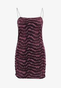 Topshop - GLITTER LUREX DRESS - Vestito elegante - pink - 3