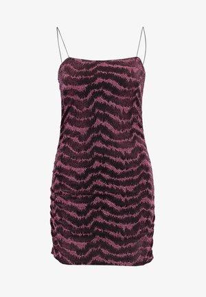 GLITTER LUREX DRESS - Vestido de cóctel - pink