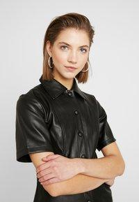 Topshop - DRESS - Shirt dress - black - 4