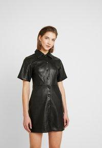 Topshop - DRESS - Shirt dress - black - 0