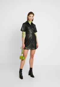 Topshop - DRESS - Shirt dress - black - 2